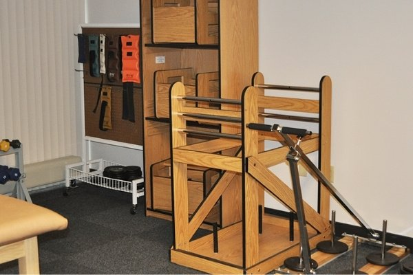 physical therapy equipment in a room